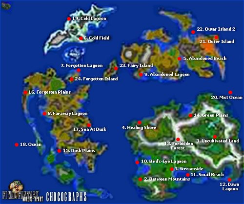 FFIX - Sidequests - Chocograph Locations