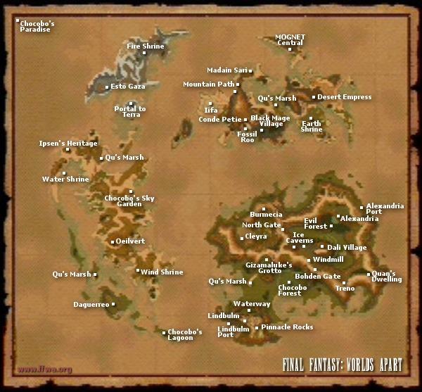 FFWA Final Fantasy IX 9 FFIX FF9 World Map