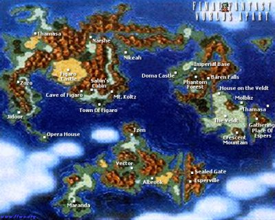 Final Fantasy Vi 6 Ffvi Ff6 World Maps Ffwa