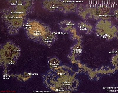Final Fantasy VI | 6 | FFVI | FF6   World Maps   FFWA